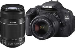 Canon EOS 600D SLR (Kit III EF-S 18-55mm IS II & EF-S 55-250mm IS II)