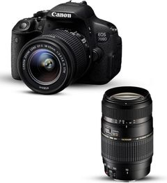 Canon 700d 18-55 mm lens with Tamron 70-300 mm canon mount lens