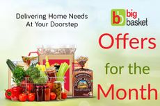 Big Basket Offers for the Month: Discount, Cashback, Free Home Delivery & More