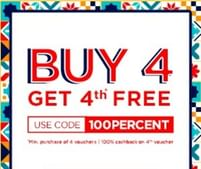 Buy 4 Vouchers From Nearbuy & Get 100% Cashback on 4th Voucher