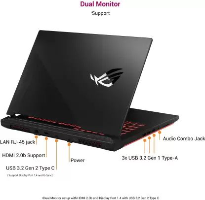Asus ROG Strix G15 G512LI-HN059T Gaming Laptop (10th Gen Core i5/ 8GB/ 1TB SSD/ Win10 Home/ 4GB Graph)