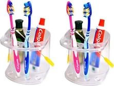 Logger Acrylic Plastic Tumbler Holder with Brush Holder - Pack of 2