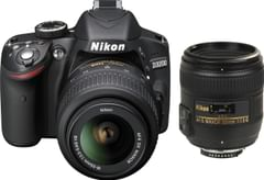 Nikon D3200 (with AF-S 18 - 55 mm VR Kit + AF-S NIKKOR 50 mm F/1.8G Le DSLR Camera