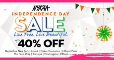 Nykaa Independence Day Mega Sale | Upto 40% OFF on  Beauty & Personal Care Products