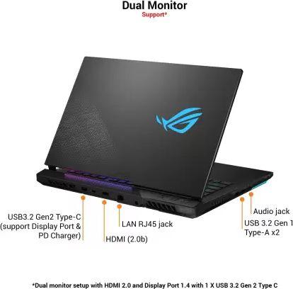ASUS ROG Strix Scar G533QR-HF078TS Gaming Laptop (AMD Ryzen 7 5800H/ 16GB/ 1TB SSD/ Win10 Home/ 8GB Graph)