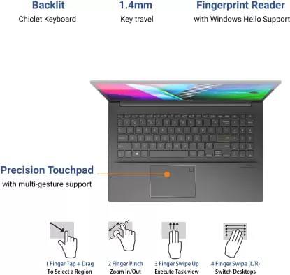 Asus Vivobook K15 KM513UA-L502TS Laptop (Ryzen 5 5500U/ 8GB/ 1TB 256GB SSD/ Win10 Home)