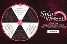 Spin & Win Exclusive Offers & Coupons From Favourite Luxe Brands