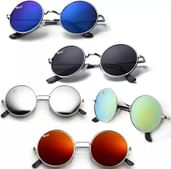 Elligator Mirrored Round Sunglasses