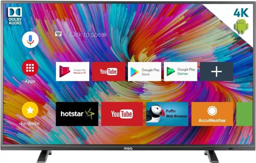 b076dd56ce7 MarQ 43SAUHD( 43-inch) Ultra HD 4K Smart LED TV Best Price in India 2019