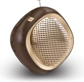 iBall Musi Cube BT20 - Portable Bluetooth Speaker with FM (Brown)