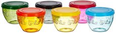 Solimo Amazon Brand Wonder Bowl with Snapfit Lid, 220 ml, Set of 6, Multicolour