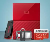 Storage Days: Upto 60% OFF on Storage Devices (Pen Drives, Memory Cards & More)