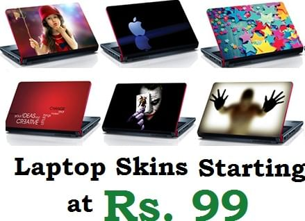 Stylish And Trendy Laptop Skin Stickers Starting At Rs 99 Only
