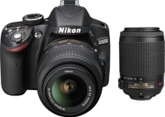 Nikon D3200 (with AF-S 18 - 55 mm VR Kit + Nikon AF-S DX VR Zoom-Nikko DSLR Camera)