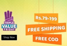 Upto 90% OFF: Triple Value Friday + Extra Rs. 50 OFF