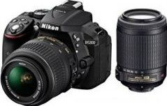 Nikon D5300 DSLR Camera (AF-S 18-55 VRII + 55-200 VRII Lens)