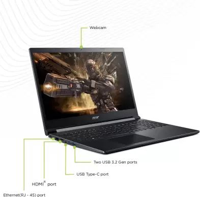 Acer Aspire 7 A715-75G (NH.Q87SI.001) Laptop (9th Gen Core i5/ 8GB/ 512GB SSD/ Win10 Home/ 4GB Graph)