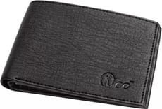 Orkee  Men Casual Black Artificial Leather Wallet  (6 Card Slots)