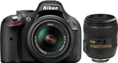 Nikon D5200 (with AF-S 18 - 55 mm VR Kit + AF-S NIKKOR 50 mm F/1.8G Le DSLR Camera)