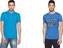 Status Quo Men's Round, V-Neck & Polo T-Shirts: Upto 80% OFF