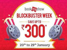 Upto Rs. 250 OFF on BookmyShow + Rs. 150 Cashback via Freecharge