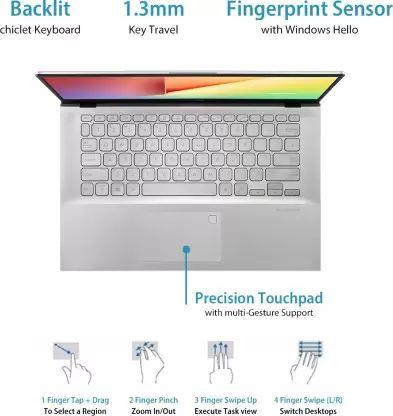 Asus VivoBook 14 X412FA Laptop (8th Gen Core i3/ 4GB/ 512GB SSD/ Win10 Home)