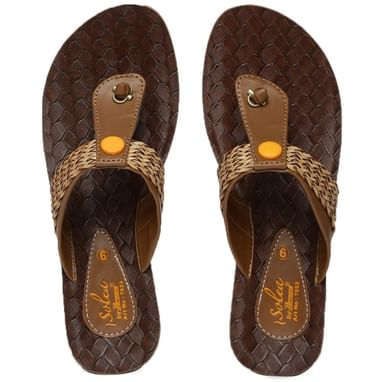 68d5ce55a PARAGON SOLEA Women s Brown Flip-Flops