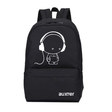 4591d53757 AUXTER Music 15 LTR Black Casual Backpack