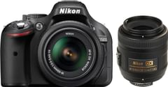 Nikon D5200 (with AF-S 18 - 55 mm VR Kit + AF-S DX NIKKOR 35 mm f/1.8G DSLR Camera)