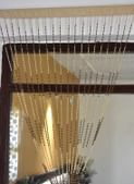 HFI Wooden Beads Decorative Curtain - 9ft, Maroon