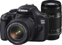 Canon EOS 1100D SLR (Double Lens Kit (EF-S 18-55mm IS II+EF-S 55-250mm IS II))