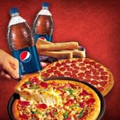 Buy Pan, So Cheezy Pizzas, Appetizers & Beverages & Get Rs. 101 OFF