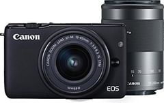 Canon EOS M10 Mirrorless Camera (EF-M 15-45mm + EF-M 55-200mm Lens)