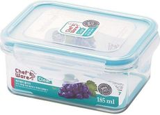 Freelance Chef's Ware Korea Rectangle Plastic Food Container, 185ml, Transparent