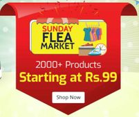 Shopclues Sunday Flea Market: Everything at Discount + Flat Rs. 50 OFF on Prepaid Orders