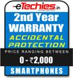Etechies SmartPhone 1 Year Extended Accidental Damage Protection (For Device Worth Rs 0 - 2000)