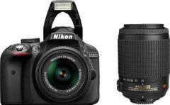 Nikon D3300 DSLR (AF-S 18-55mm + 55-200mm VR Kit Lens)