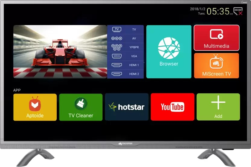 9aac110e3666 Micromax 50 Canvas 3 (50-inch) Full HD Smart LED TV Best Price in India  2019