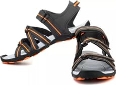 Sparx  Men Grey-Orange Sandals
