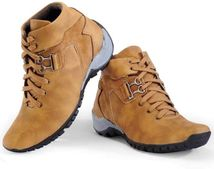Deekada Mens Black/Tan Boots/Casual Shoes