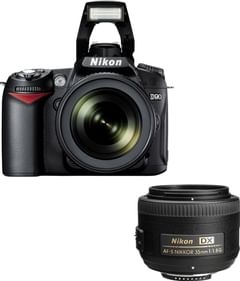 Nikon D90 with 18-105mm + 35 mm Lens