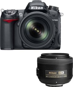 Nikon D7000 with 18-105mm + 35 mm Lens