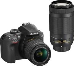 Nikon D3400 DSLR Camera (18-55mm & 70-300mm)