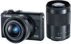 Canon M100 Mirrorless Camera (EF-M15-45mm + EF-M55-200mm)