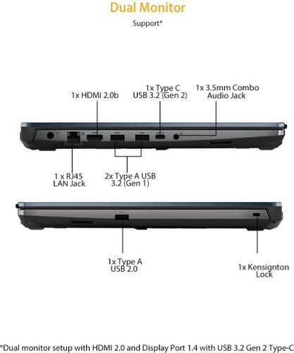 Asus TUF Gaming F15 FX566LH-HN009T Laptop (10th Gen Core i5/ 8GB/ 1TB 256GB SSD/ Win10/ 4GB Graph)