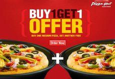Buy 1 Get 1 Free on Any Medium Pizzas