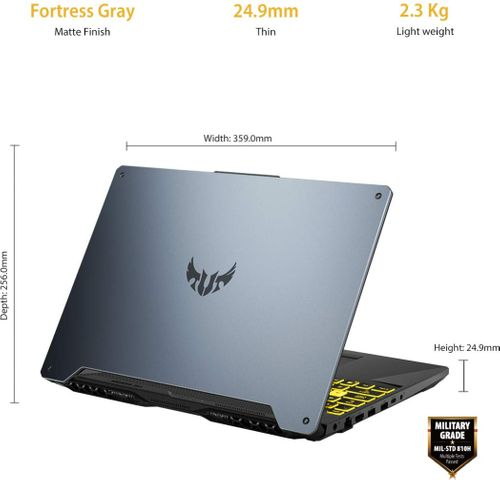 Asus TUF Gaming F15 FX566LI-HN133T Laptop (10th Gen Core i7/ 16GB/ 1TB 256GB SSD/ Win10/ 4GB Graph)