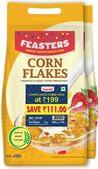 Feasters Corn Flakes Plain Pouch, 1kg