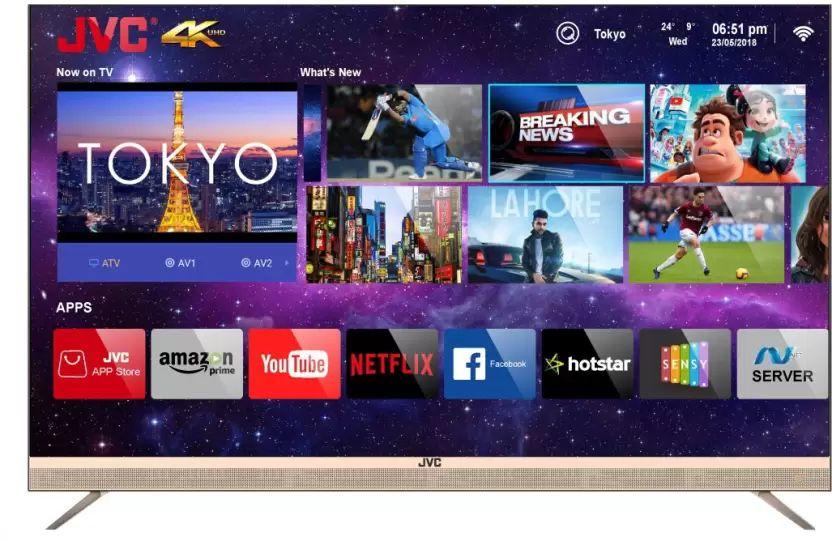 JVC LT-55N7105C 55-inch Ultra HD 4K Smart LED TV