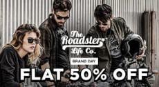 Flat 50% off on Roadster Men Clothing